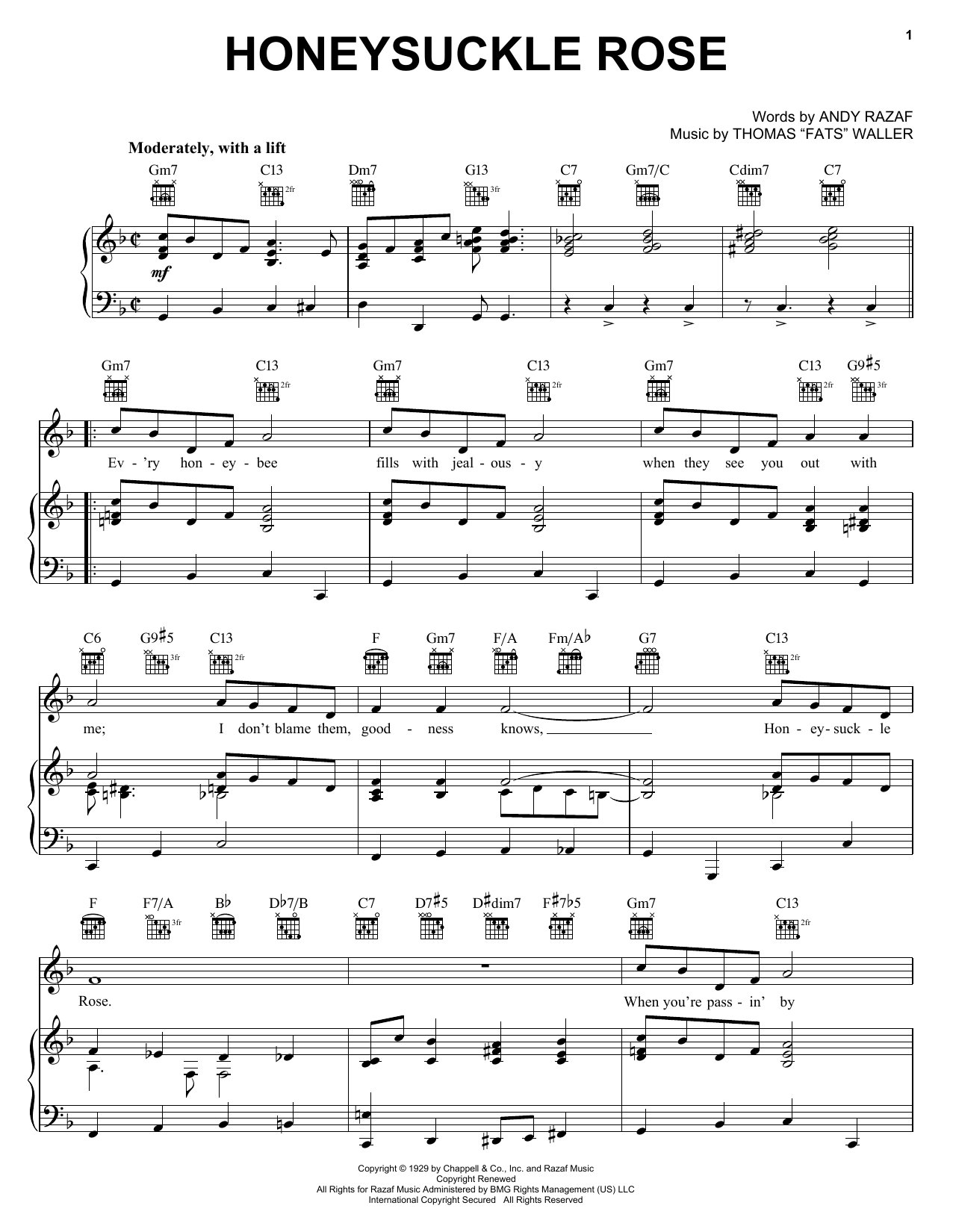 Download Django Reinhardt Honeysuckle Rose sheet music and printable PDF score & Jazz music notes