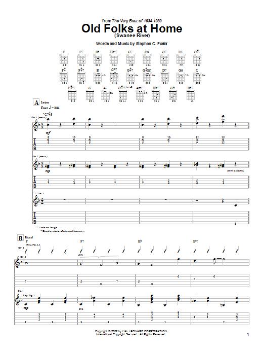 Download Django Reinhardt Old Folks At Home (Swanee River) sheet music and printable PDF score & Jazz music notes