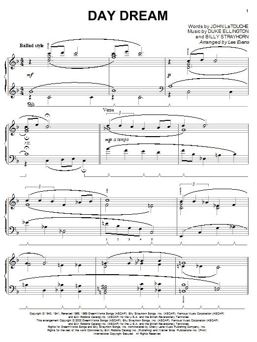 Download Duke Ellington Day Dream sheet music and printable PDF score & Jazz music notes