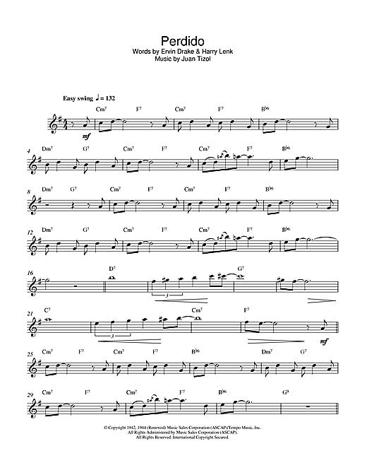 Download Duke Ellington Perdido sheet music and printable PDF score & Jazz music notes