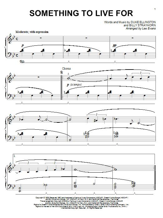 Download Duke Ellington Something To Live For sheet music and printable PDF score & Jazz music notes