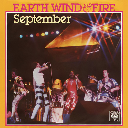 Earth, Wind & Fire, September, Piano, Vocal & Guitar (Right-Hand Melody)