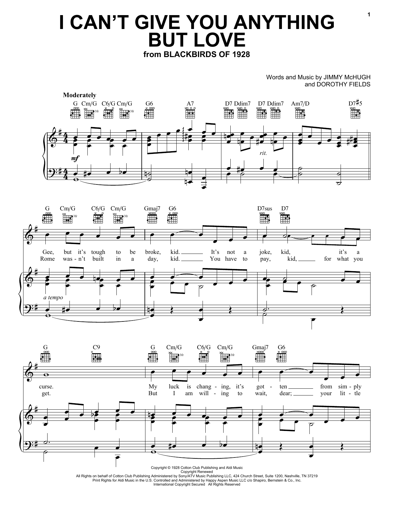 Download Ella Fitzgerald I Can't Give You Anything But Love sheet music and printable PDF score & Jazz music notes