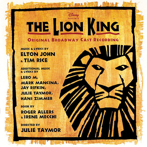 Elton John, I Just Can't Wait To Be King (from The Lion King: Broadway Musical), Piano, Vocal & Guitar (Right-Hand Melody)