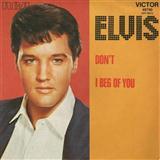 Elvis Presley Don't Sheet Music and PDF music score - SKU 59168