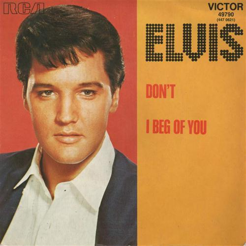 Elvis Presley, Don't, Piano, Vocal & Guitar (Right-Hand Melody)
