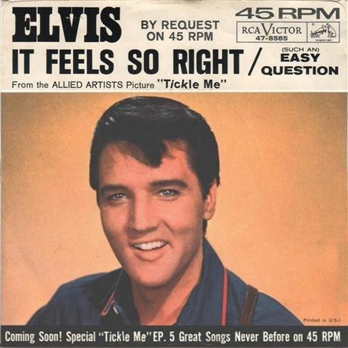 Elvis Presley, It Feels So Right, Piano, Vocal & Guitar (Right-Hand Melody)