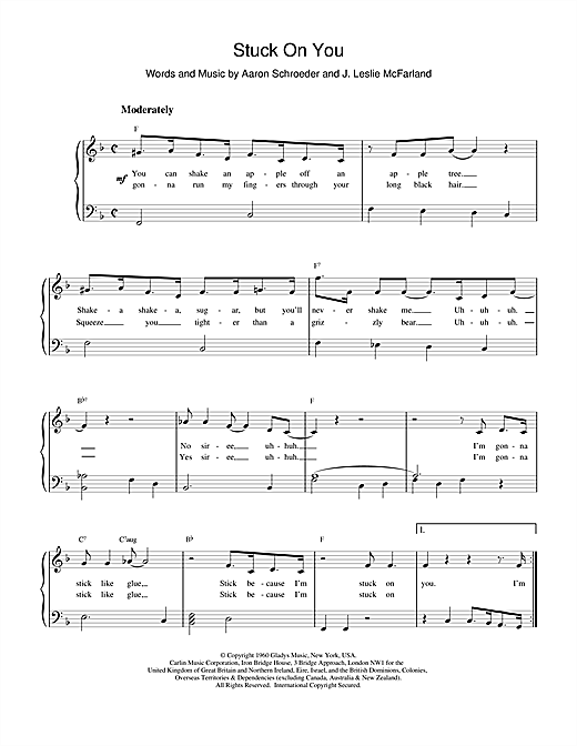 Download Elvis Presley Stuck On You sheet music and printable PDF score & Pop music notes