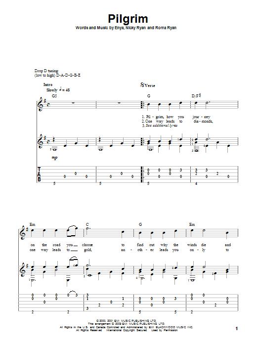Download Enya Pilgrim sheet music and printable PDF score & Pop music notes