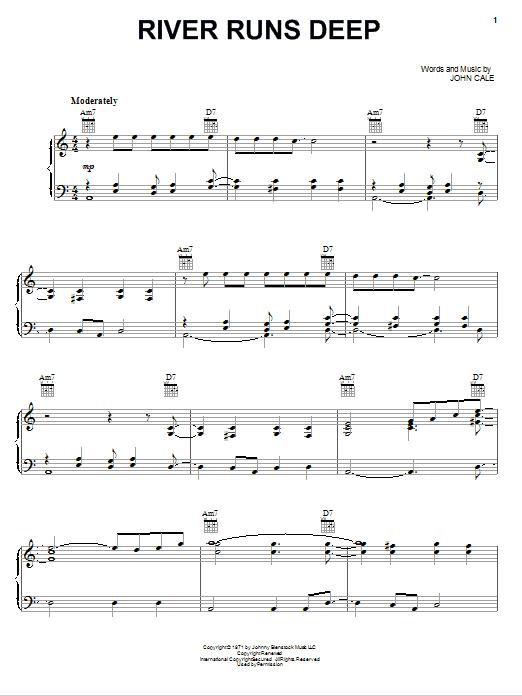 Download Eric Clapton River Runs Deep sheet music and printable PDF score & Rock music notes