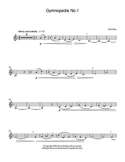 Download Erik Satie Gymnopedie No. 1 sheet music and printable PDF score & Classical music notes