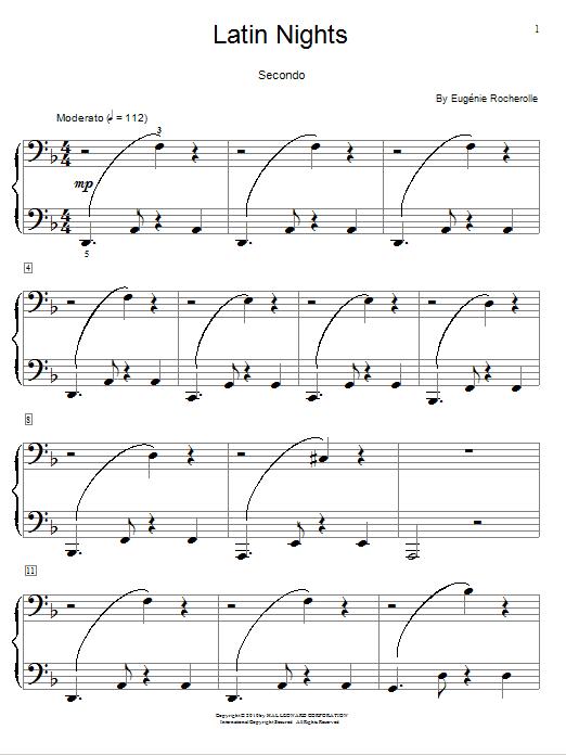 Download Eugénie Rocherolle Latin Nights sheet music and printable PDF score & World music notes