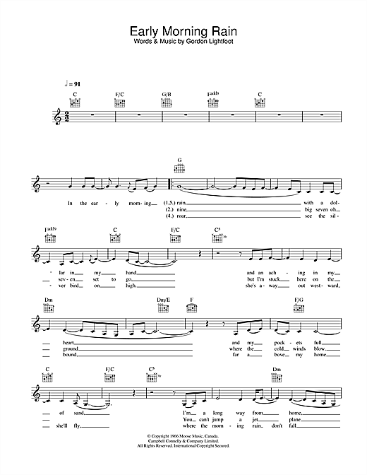 Download Eva Cassidy Early Morning Rain sheet music and printable PDF score & Jazz music notes