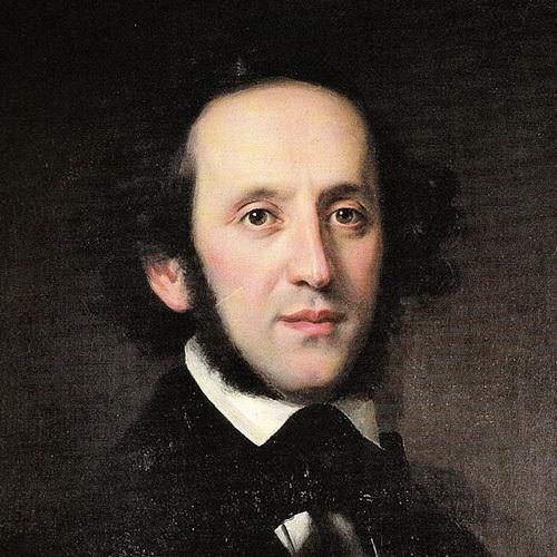 Felix Mendelssohn, On Wings Of Song, Melody Line & Chords