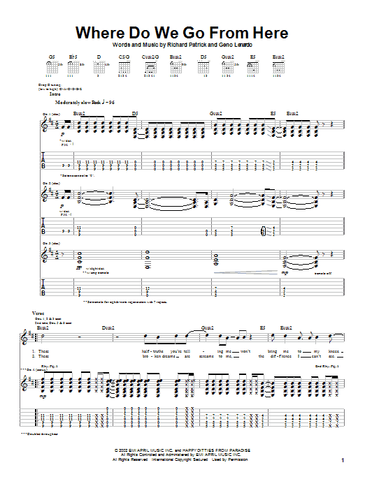 Download Filter Where Do We Go From Here sheet music and printable PDF score & Rock music notes