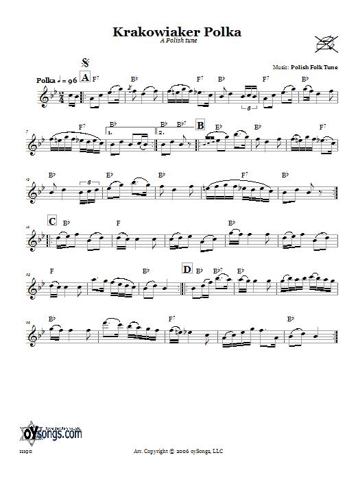 Download Folk Tune Krakowiaker Polka (A Polish Tune) sheet music and printable PDF score & Religious music notes