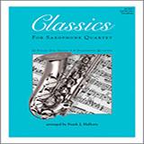 Frank J. Halferty Classics For Saxophone Quartet - 2nd Eb Alto Saxophone Sheet Music and PDF music score - SKU 125025