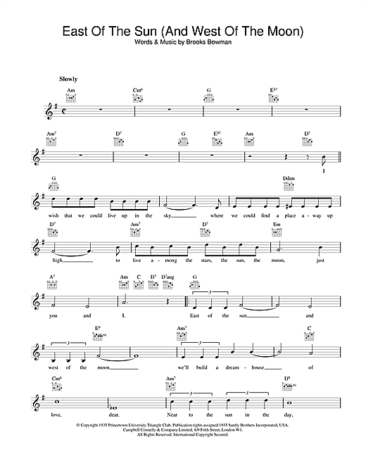 Download Frank Sinatra East Of The Sun (And West Of The Moon) sheet music and printable PDF score & Jazz music notes