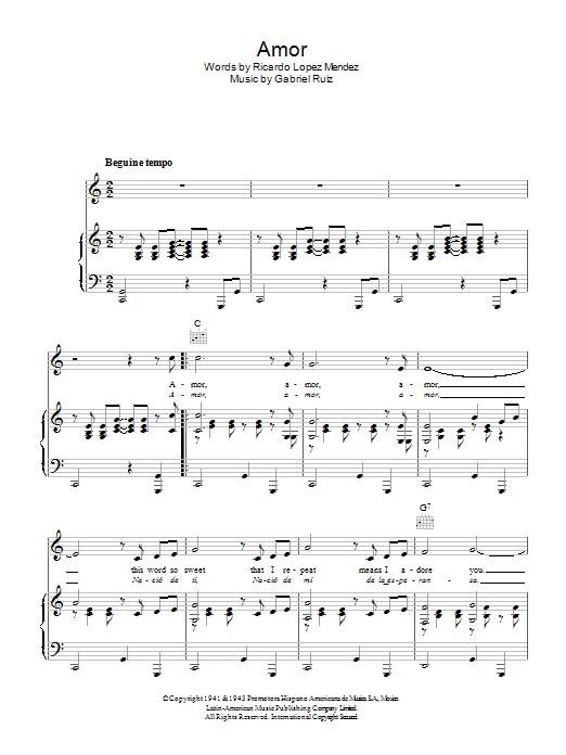 Download Gabriel Ruiz Amor sheet music and printable PDF score & Latin music notes