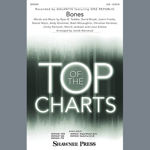 Galantis, Bones (feat. OneRepublic) (arr. Jacob Narverud), SAB Choir
