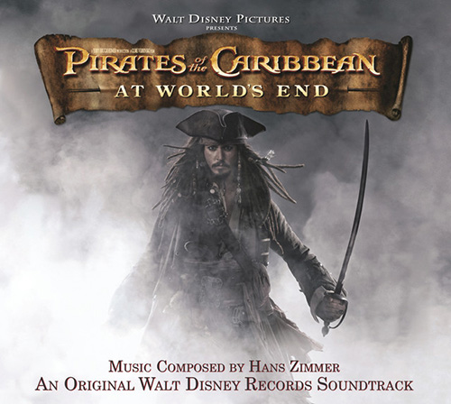 Hans Zimmer, One Day (from Pirates Of The Caribbean: At World's End), Piano (Big Notes)