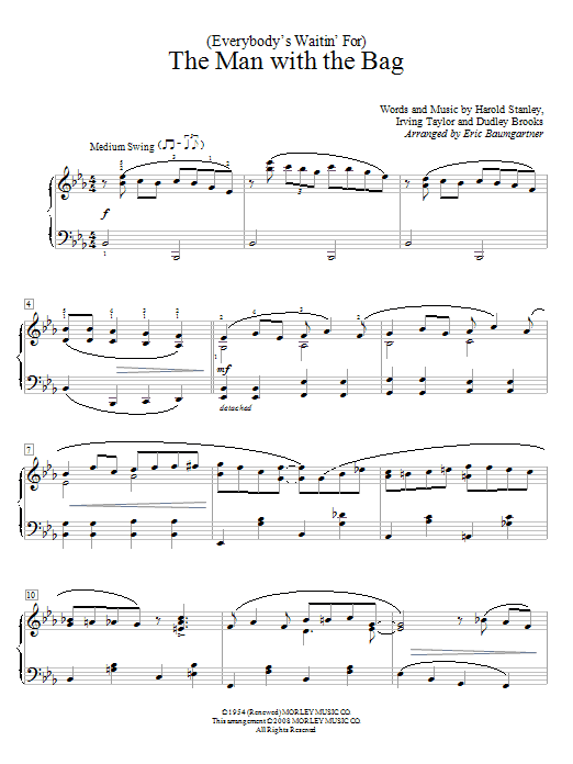 Download Irving Taylor (Everybody's Waitin' For) The Man With The Bag sheet music and printable PDF score & Children music notes
