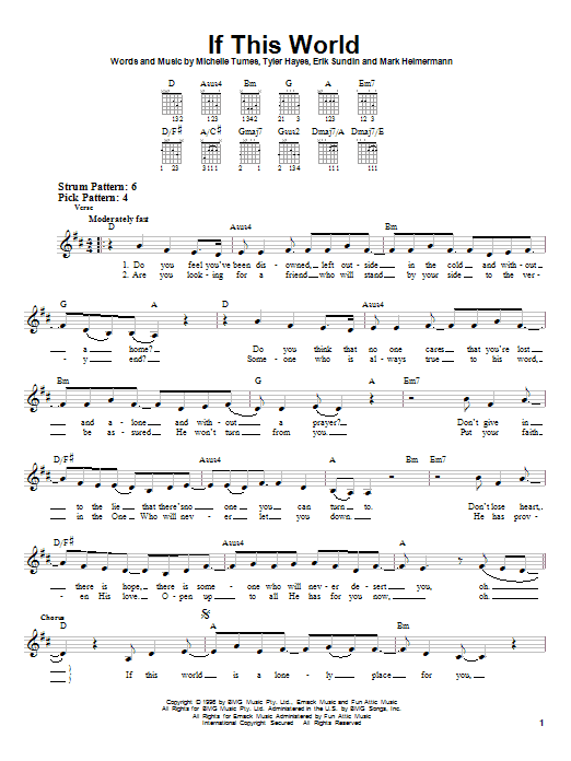 Download Jaci Velasquez If This World sheet music and printable PDF score & Pop music notes