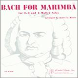 James Moore Bach For Marimba Sheet Music and PDF music score - SKU 371430