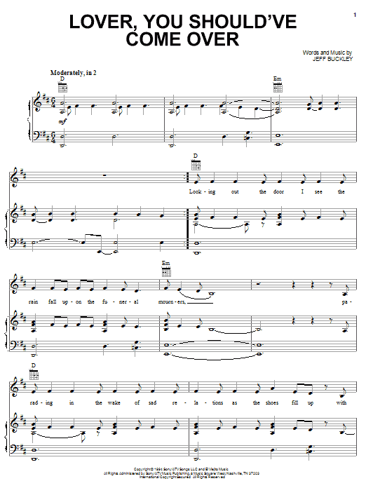 Download Jamie Cullum Lover, You Should've Come Over sheet music and printable PDF score & Pop music notes