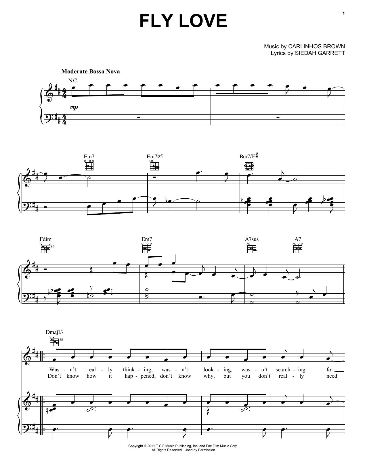 Download Jamie Foxx Fly Love sheet music and printable PDF score & Pop music notes