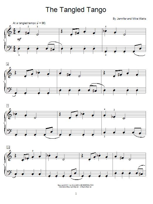 Download Jennifer Watts The Tangled Tango sheet music and printable PDF score & Pop music notes