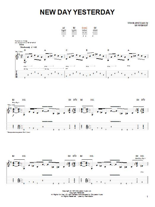 Download Joe Bonamassa New Day Yesterday sheet music and printable PDF score & Pop music notes