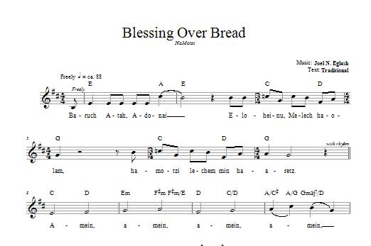 Download Joel N. Eglash Blessing Over Bread (HaMotzi) sheet music and printable PDF score & Religious music notes