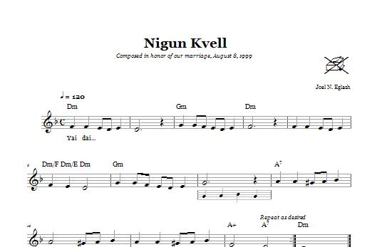 Download Joel N. Eglash Nigun Kvell (Wordless Melody) sheet music and printable PDF score & Religious music notes