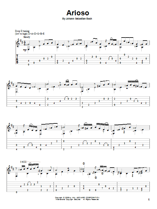 Download Johann Sebastian Bach Arioso sheet music and printable PDF score & Classical music notes