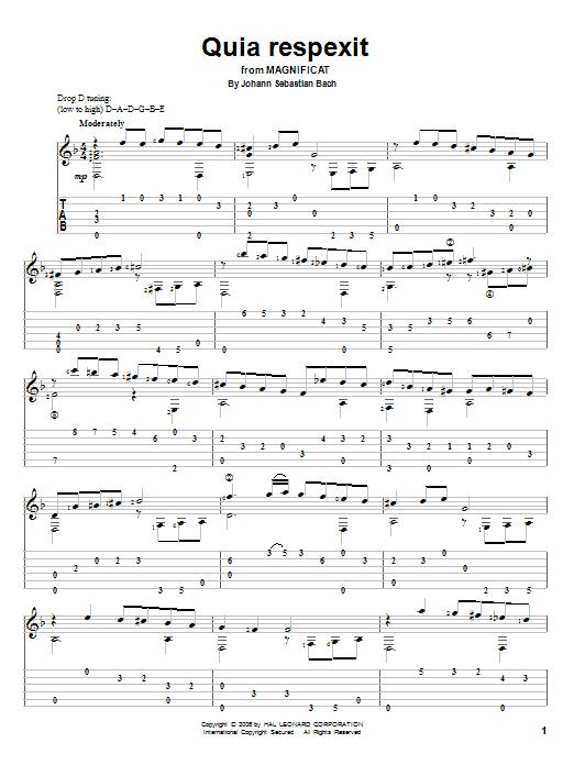 Download Johann Sebastian Bach Quia Respexit sheet music and printable PDF score & Classical music notes