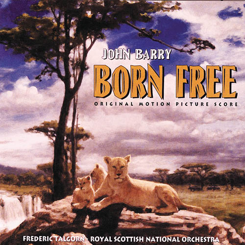 John Barry, Born Free, Piano, Vocal & Guitar (Right-Hand Melody)