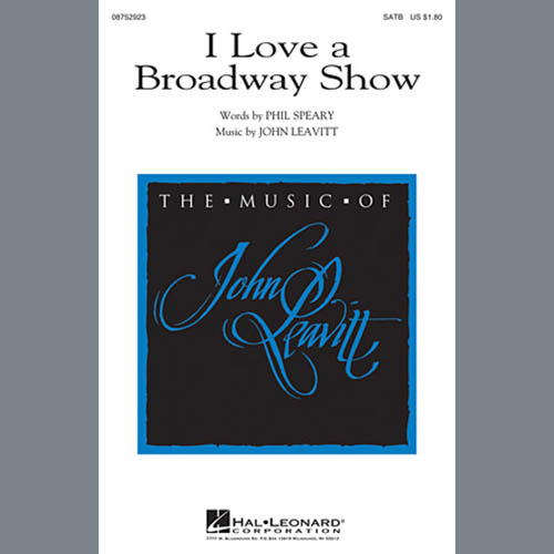 I Love A Broadway Show sheet music