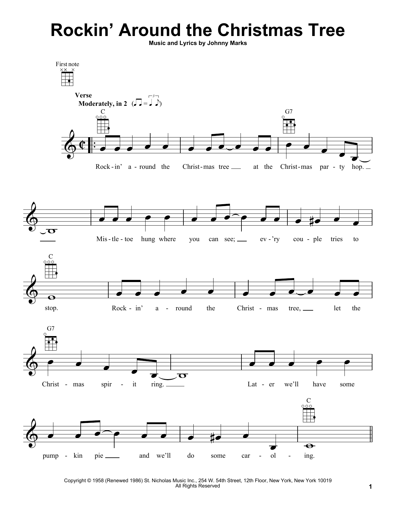 Rockin Around The Christmas Tree Piano Sheet Music.Johnny Marks Rockin Around The Christmas Tree Sheet Music Notes Chords Download Printable Alto Saxophone Sku 177228