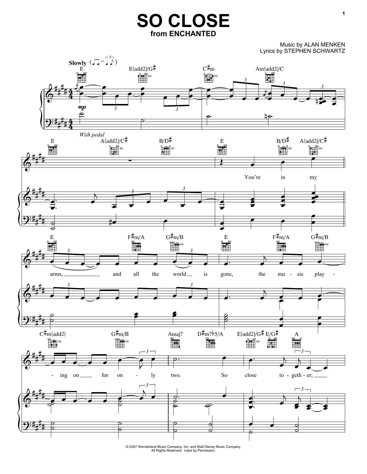 Download Jon McLaughlin So Close sheet music and printable PDF score & Pop music notes