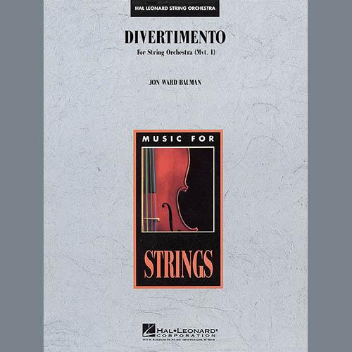 Jon Ward Bauman, Divertimento for String Orchestra (Mvt. 1) - String Bass, Orchestra