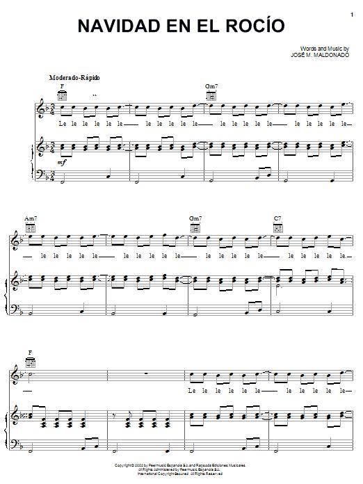 Download José M. Maldonado Navidad En El Rocío sheet music and printable PDF score & World music notes