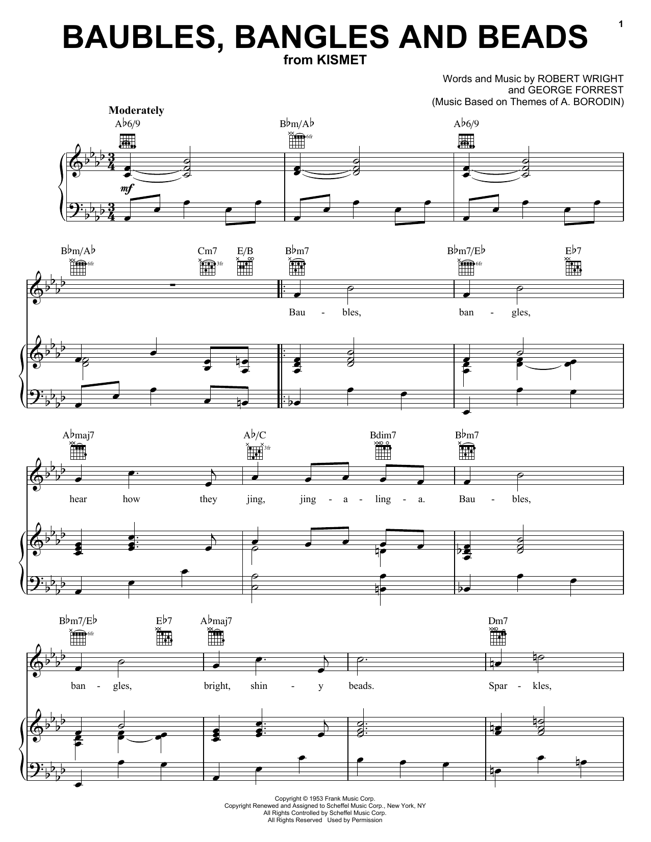 Download Julie Andrews Baubles, Bangles And Beads sheet music and printable PDF score & Jazz music notes