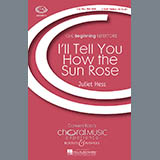 Juliet Hess I'll Tell You How The Sun Rose Sheet Music and PDF music score - SKU 71299