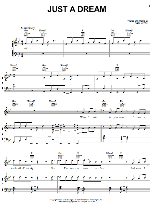 Download Jump5 Just A Dream sheet music and printable PDF score & Pop music notes