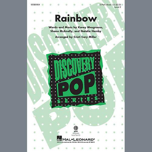 Kacey Musgraves, Rainbow (arr. Cristi Cary Miller), 3-Part Mixed Choir