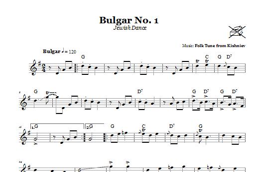 Download Kishniever Folk Tune Bulgar No. 1 (Jewish Dance) sheet music and printable PDF score & Religious music notes