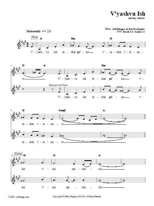 Download Kol B'seder V'yashvu Ish sheet music and printable PDF score & Religious music notes