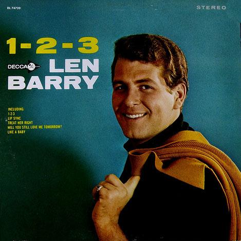 Len Barry, 1 2 3, Piano, Vocal & Guitar (Right-Hand Melody)