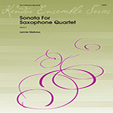Lennie Niehaus Sonata For Saxophone Quartet - Full Score Sheet Music and PDF music score - SKU 360929